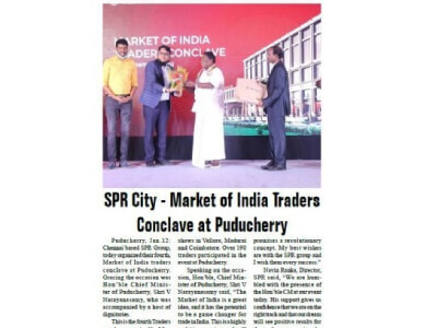 SPR City MOI Puducherry Roadshow on 13th January 2021