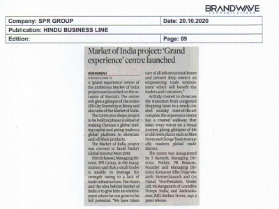 The Grand Launch(27th October 2020) of Market of India 'Experience Centre'